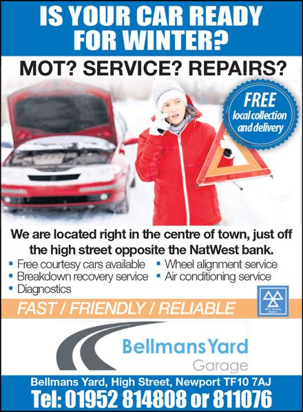 bellmans yard garage advert